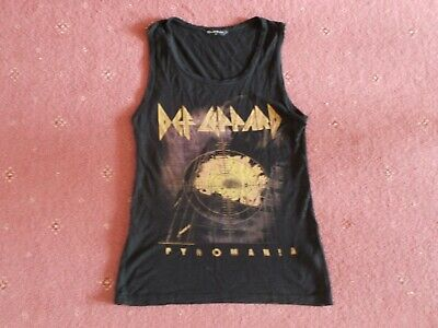Womens Ladies Def Leppard Vest Top Size 10 Pyromania • 4.99£