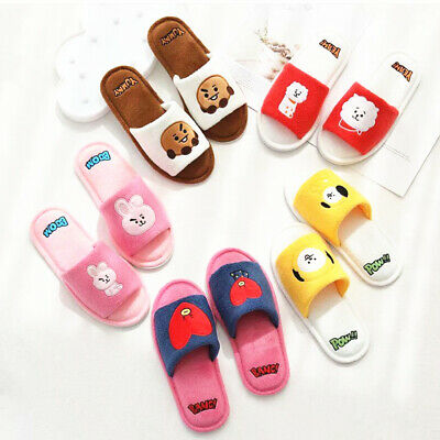 KPOP BT21 New Plush All-inclusive Slippers Half-pack Slippers • 15.50£