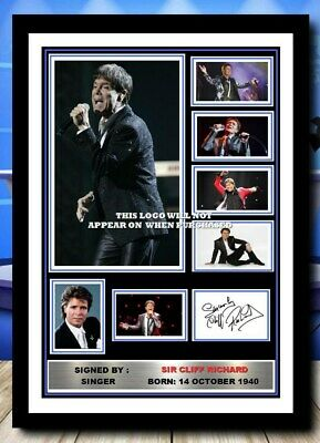 (486) Cliff Richard Signed A4 Photo/framed/unframed (reprint) Great Gift @@@@@@@ • 14.99£