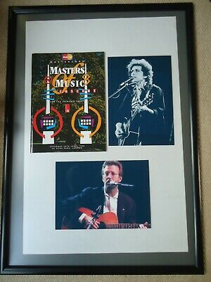 Masters Of Music Concert Program 1996 Clapton/ Dylan+ Two Photo Images  3 Gems • 34.50£