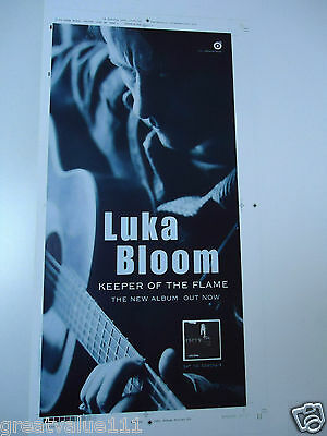 Luka Bloom Poster Christy Moores Brother  Unreleased Artwork Keeper Of The Flame • 20£