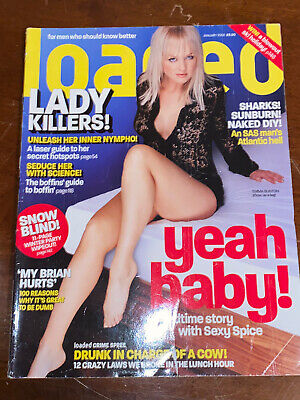Emma Bunton Baby Spice Loaded Magazine Front Cover Very Collectable Jan 2002 • 7.50£