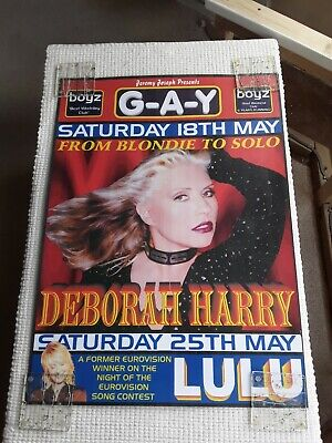 Deborah Harry Blondie Laminated G-A-Y Poster Very Limited Less Than 20 Lulu • 20£
