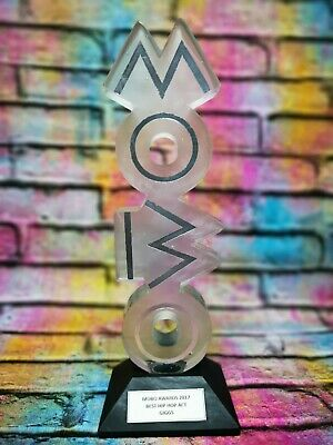 Official Mobo Award Presented To Giggs For Best Hip Hop Act 2017 With COA • 2,000£