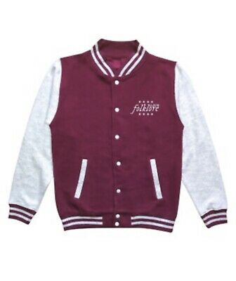 "Taylor Swift ""flashback In A Film Reel"" Maroon Folklore Varsity Jacket Medium • 115£"