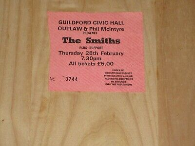 The Smiths Original Concert Ticket, Guildford 28 February 1985, Meat Is Murder • 64.99£