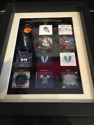 Coldplay Souvenir Framed Album Covers • 8£