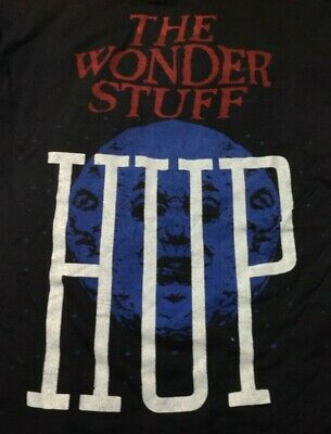 Wonder Stuff HUP Vintage 1980s T SHIRT Single Stitch Screen Stars UNWORN XL • 4.99£