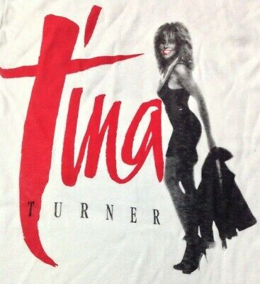 Tina Turner Vintage 1980s CONCERT T SHIRT Single Stitch UNWORN M • 4.99£