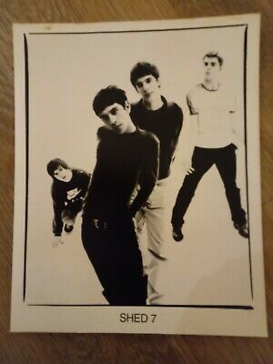 SHED SEVEN Promo Photo B/w Black/white Rare Promotional Rock Band Going For Gold • 1.50£