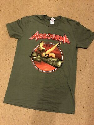 Airbourne Rare Official Tour Shirt 2017 Europe Dates Vintage Ready To Rock New M • 5£