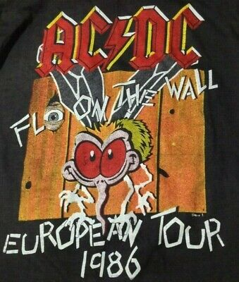 AC/DC Fly On The Wall Vintage 1980s CONCERT T SHIRT UNWORN Single Stitch SMALL • 7.50£