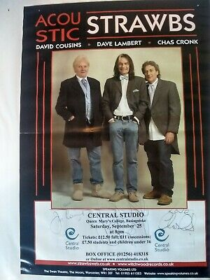 Strawbs Poster  Signed 16  By 12  • 4.99£