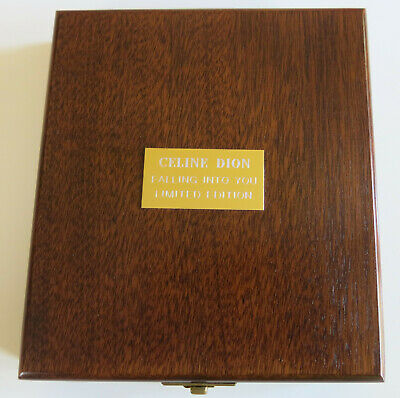 Celine Dion - Falling Into You Limited Numbered CD Wooden PROMO Box Set NEW RARE • 299.99£