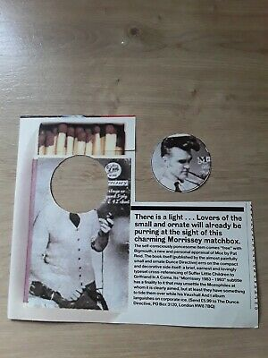 Morrissey  Bigmouth Book 1x 32mm Badge Recycled 1997 Q Magazine • 1.30£