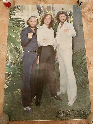 1981  Official Fan Club  Poster -  BEE GEES - Version 1 -  RARE  • 23.99£
