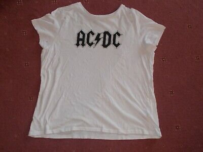 Ladies Womens AC/DC T-shirt Large Size 16/18 • 4.99£