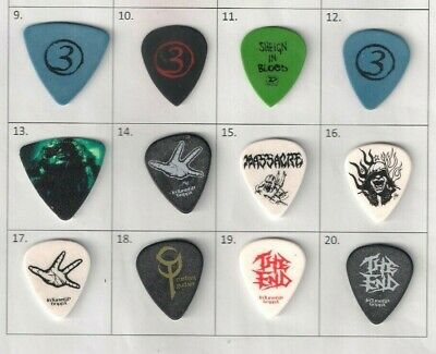 Collection Of 4 Rare And Collectable 3 INCHES OF BLOOD Guitar Picks / Plectrums • 9.99£
