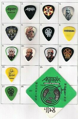 Set Of 3 Very Rare And Collectable Anthrax Guitar Picks / Plectrums Scott Ian • 17.99£