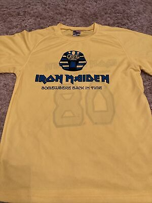 Iron Maiden 2008 Somewhere Back In Time Football Shirt Size Large • 20£