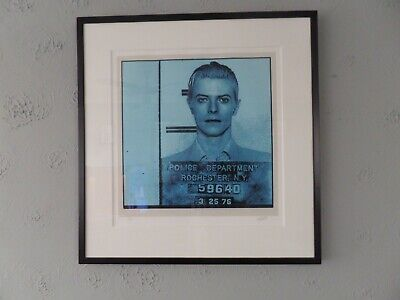David Bowie By Louis Sidoli 'Wanted' Signed 2000 Ltd Edition No. 27/495 Framed  • 300£