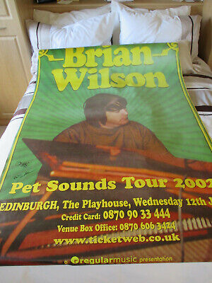 Brian Wilson Concert Poster Pet Sounds 2002 Signed By Brian Very Rare Beach Boys • 299.99£