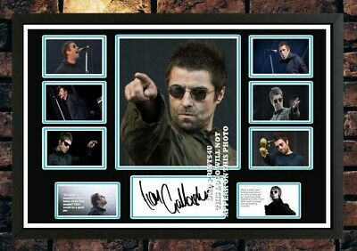 (#349) Liam Gallagher Oasis Signed A4 Photo/framed/unframed (reprint) Great Gift • 14.99£