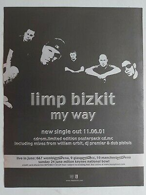 Limp Bizkit My Way Original Trade Advert / Poster • 7.99£