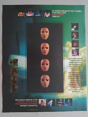 Pink Floyd Is There Anybody Out There? Original Trade Advert / Poster • 7.99£