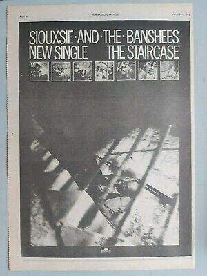 Siouxsie And The Banshees The Staircase Original Trade Advert / Poster • 7.99£