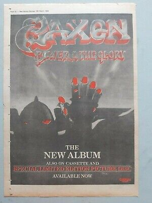 Saxon Power & The Glory Original Trade Advert / Poster • 7.99£