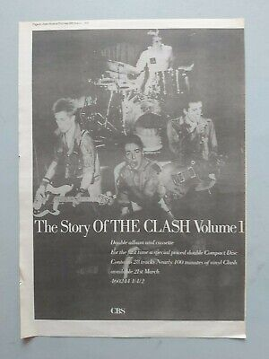 The Clash The Story Of ... Original Trade Advert / Poster • 7.99£