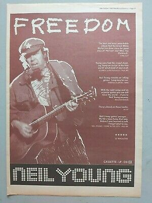 Neil Young Freedom Original Trade Advert / Poster • 7.99£