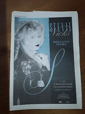 Stevie Nicks Fleetwood Whole Lotta Trouble 1 Page Sounds Advert Nov 1989 12 X17  • 5£