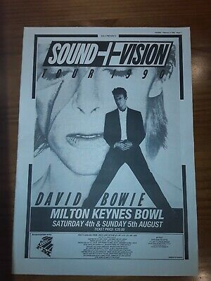 David Bowie Sound And Vision Tour 1 Page Sounds Advert Feb 3rd 1990 12 X17   • 5£