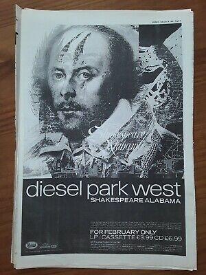 Diesel Park West Shakespeare Alabama 1 Page Sounds Advert Feb 4th 1989 12 X17  • 5£