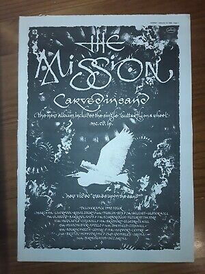 The Mission Carved In Sand  1 Page Sounds Advert February 10 1990 12 X17  • 5£