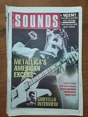Metallica 1 Page Sounds Cover March 4th 1989 12 X17  • 5£