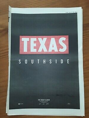 Texas Southside 1 Page Sounds Advert March 18th 1989 12 X17  • 5£