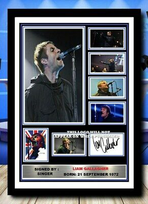 (472) Liam Gallagher Oasis Signed A4 Photo/framed/unframed Reprint Great Gift • 14.99£