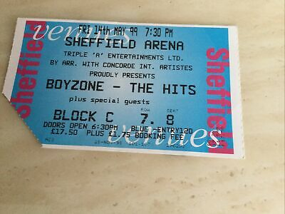 Boyzone Used Concert Ticket 1999 Excellent Condition • 3£
