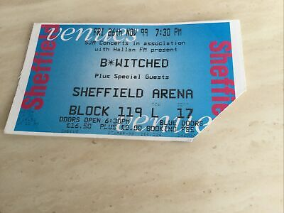 B*Witched Used Concert Ticket 1999 Excellent Condition • 3£