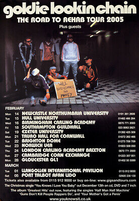 Goldie Lookin Chain Tour Poster - 2005 The Road To Rehab Tour  • 9.95£
