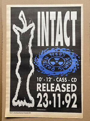 NED'S ATOMIC DUSTBIN ATOMIC POSTER SIZED Original Music Press Advert From 1992 - • 11£