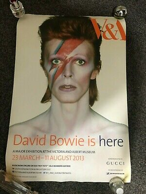David Bowie  IS HERE  V & A Exhibition  LONDON Poster  • 100£