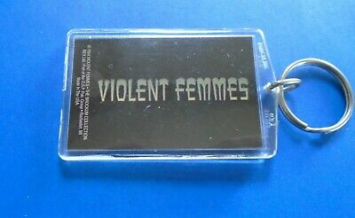 VIOLENT FEMMES / KEY RING / Made Of Sturdy Lucite Plastic / New Cond. 2 X 3  USA • 5.71£