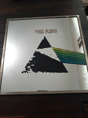 Pink Floyd The Wall Carnival Prize Glass Mirror, 12  X 12  1970s Vintage  • 56.51£