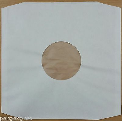 12  Polylined White Inner Paper Record Sleeves X 25 • 7.50£