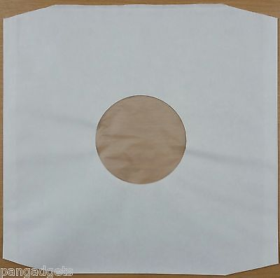 12  Polylined White Inner Paper Record Sleeves X 50 • 11.99£