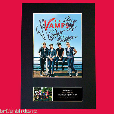 THE VAMPS Signed Autograph Mounted Photo Repro A4 Print 469 • 5.99£